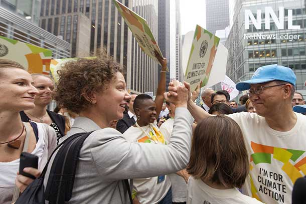 People rallied and paraded across the globe today in support of action on climate change.