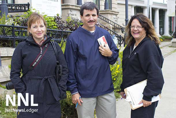 Lee-Ann Chevrette, Crime Prevention Council Coordinator, Barry Horrobin, Director of Planning and Physical Resources with the Windsor Police Service and Linda Bruin, Evergreen Neighbourhood