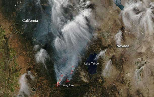 The King Fire in California is continuing to destroy homes