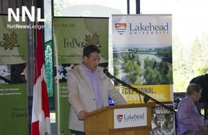 Minister of Natural Resources, Hon. Greg Rickford at Lakehead University.