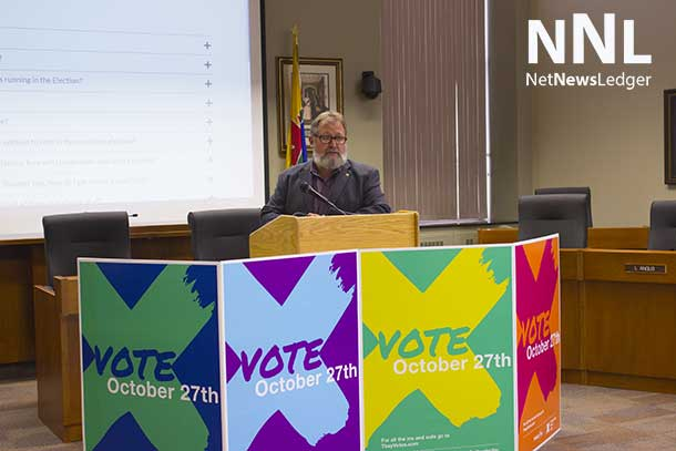 Chief Returning Officer John Hannam shares the new www.tbayvotes.com website.