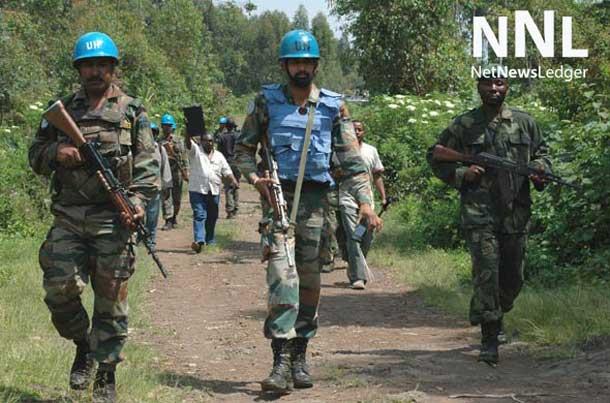 Joint MONUSCO/FARDC patrol in North Kivu, Democratic Republic of the Congo (DRC). Photo: MONUSCO/Clara Padovan