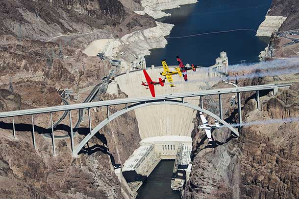 Historic and iconic Hoover Dam fly-by in recon for Red Bull Air Race World Championships