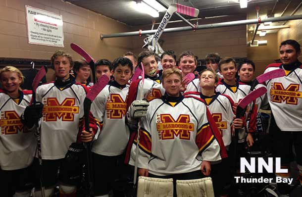 The Westfort Maroons Bantam AA hockey team