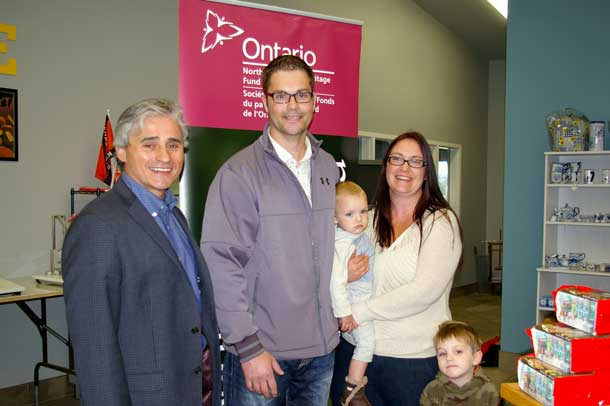 Minister Mauro with Walter & Joanne Schep, owners of Thunder Oak Cheese Farm, and their sons Willem & Eli.