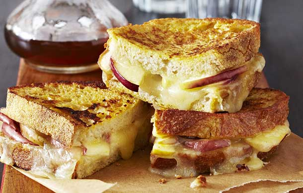French Toast, Apple and Cheese sandwich perfect for Breakfast or lunch.