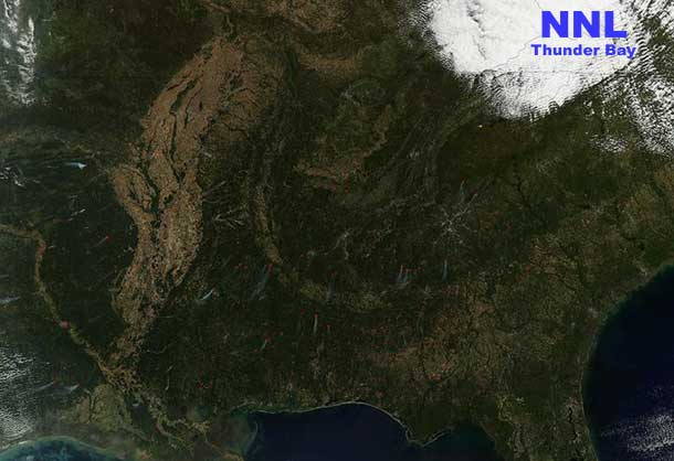 NASA Wildfires Southern United States