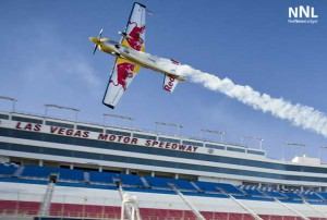 Britain's Paul Bonhomme is holding a slim one-point lead over Hannes Arch and Nigel Lamb as the upset-filled Red Bull Air Race World Championship moves to Las Vegas for the penultimate stop of the thrill-filled 2014 season, which has featured four different winners in six races so far.