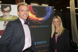 Michael Nitz with RBC and Stephanie Ash with Firedog Communications at at Thunder Bay Chamber of Commerce After Business Event in Thunder Bay