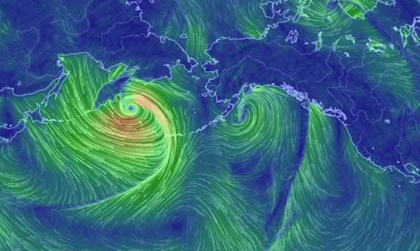 Alaska is getting hit with a major storm this weekend.