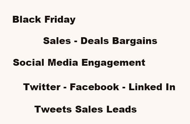 Black Friday Social Media Engagement Wars