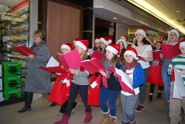 Singing for a joyous holiday season at Intercity Mall