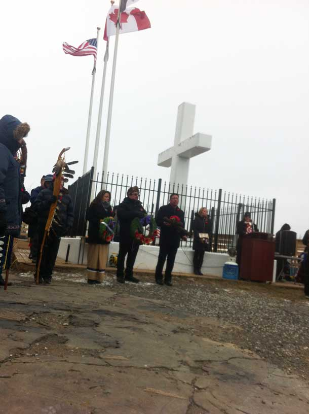 The cross at the Lookout on Mount McKay is a symbol for the soldiers who died defending freedoms.