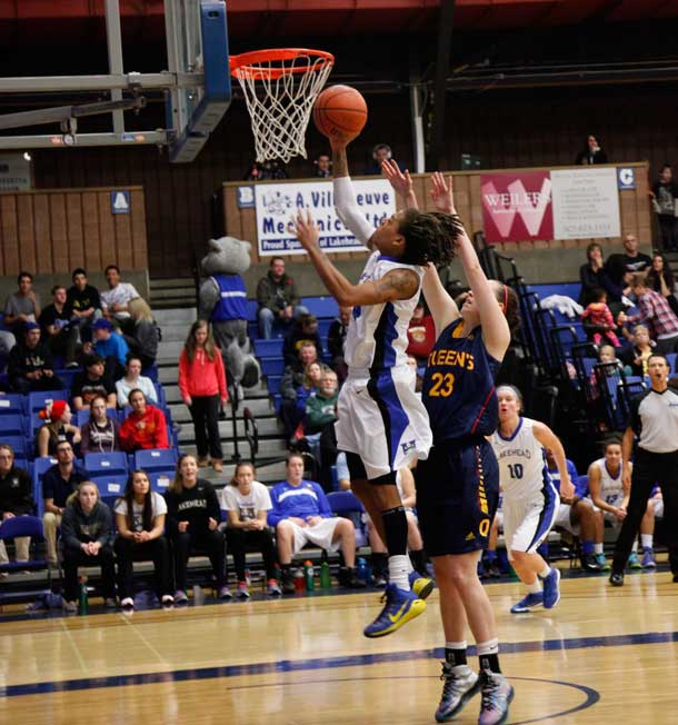 Lakehead University Thunderwolve Jylisa Williams had a 42 point game and is the OAU athlete of the week