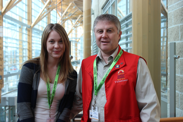 Sanna Agombar (left) and Kevin Herman (right) are TBRHSC volunteers.