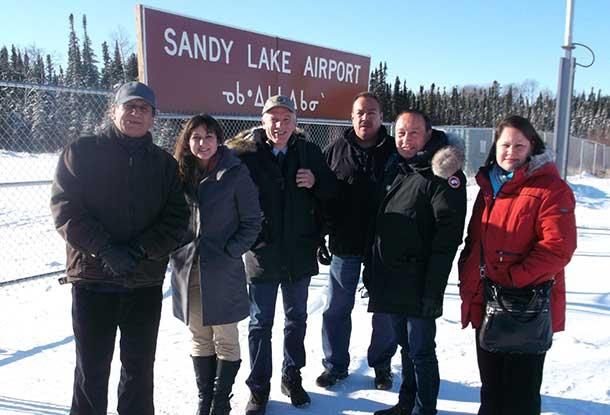 Jerry, Meaghan, Julian,Terry, John, Jodie-Lynn at Sandy Lake