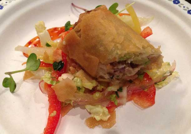 Spring Roll with Duck from Pine Tree Catering