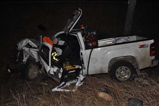 Thunder Bay Police image of motor vehicle accident on Mission Road
