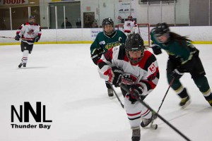 Thunder Bay Queens in action at Fort William First Nation on Friday night