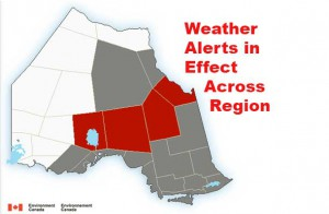 Most of the region is under a weather advisory or alert.