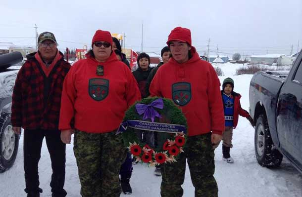 Remembrance Day in Fort Severn First Nation