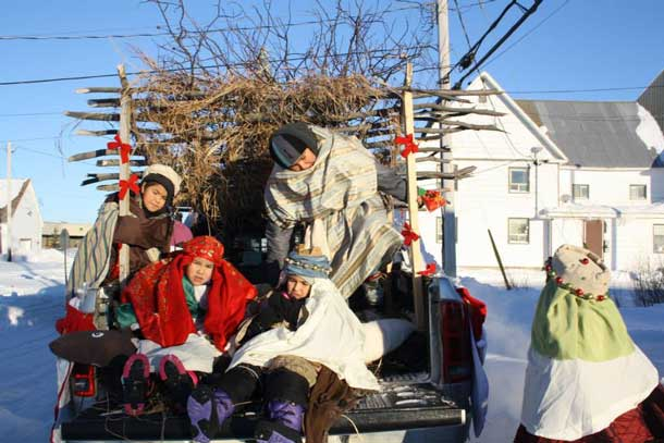 The wisemen in the Attawapiskat Christmas Parade. Photo by Rosiewoman Cree