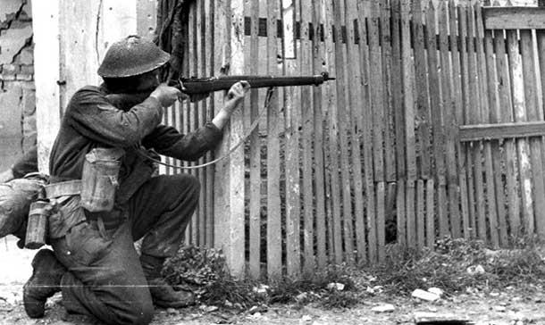 Canadian Soldier at Ortona