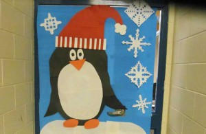 The students spent some time and effort decorating their school for the Christmas Holidays