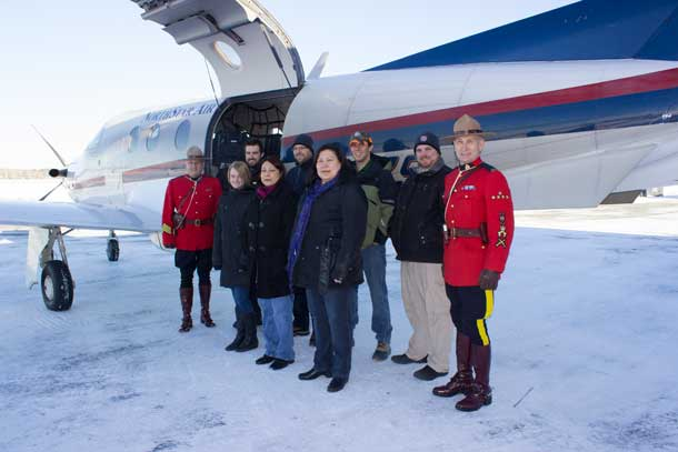 The North Star Air Team with RCMP S/Sgt. Normand Roy and Constable Bob Jacobson