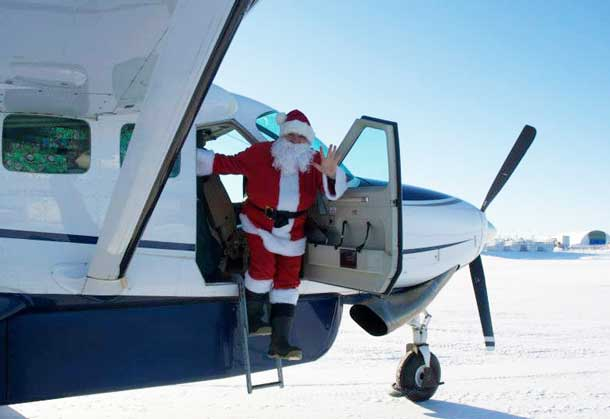 Santa arrives to spread Christmas cheer