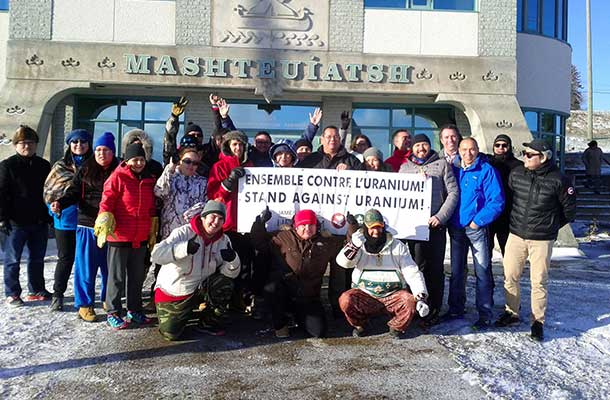 """Stand Against Uranium"" march travels through the Lac-St-Jean region"