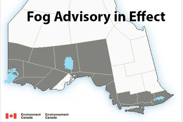 Fog Advisory in Effect