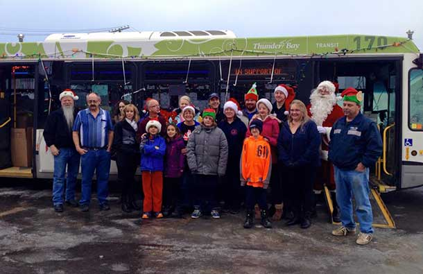 6500 pounds of food were raised by this year's Thunder Bay Transit Food Drive.