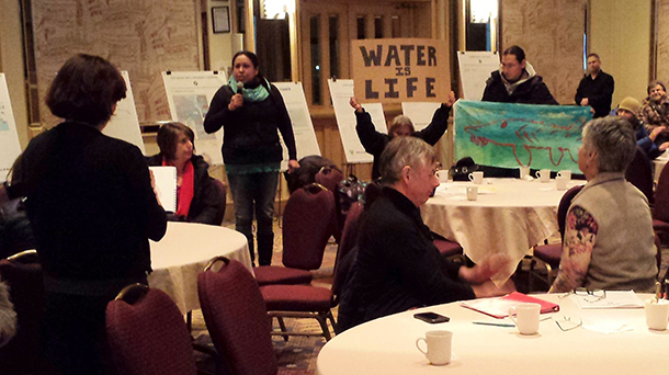 Erin Bottle presents a First Nations view on the pipeline proposal