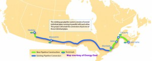 Proposed Pipeline Route map