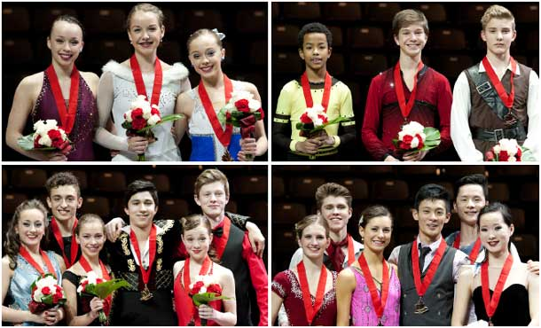The first champions have been crowned at the Canadian Tire National Skating Championships