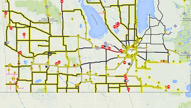 Highway Closures in Manitoba are impacting travel