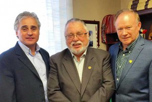 MPP Bill Mauro; MMAH Minister Ted McMeekin; Atikokan Mayor Dennis Brown