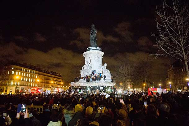 Paris and Parisians are standing strong.