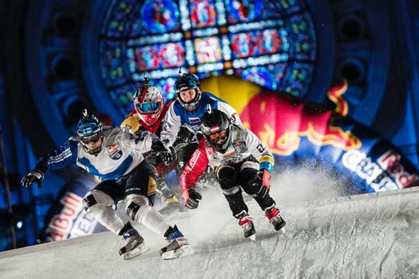 Exciting Action at Red Bull Crashed Ice in Saint Paul. Photo: Red Bull Content Pool