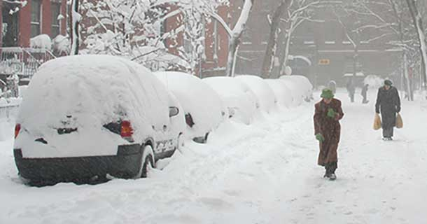 New York could receive up to three feet of snow