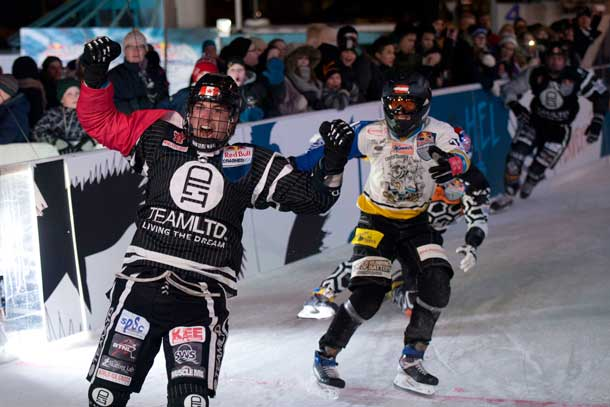 Scott Croxall of Canada won the first Red Bull Crashed Ice race of his career in Helsinki on Saturday
