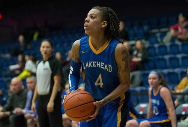 Lakehead University Thunderwolf Jylisa Williams raised the bar once more