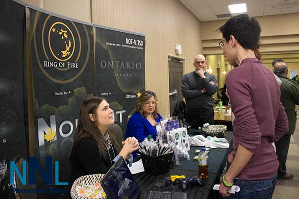 Students were finding out about career opportunities at the Noront Resources Booth