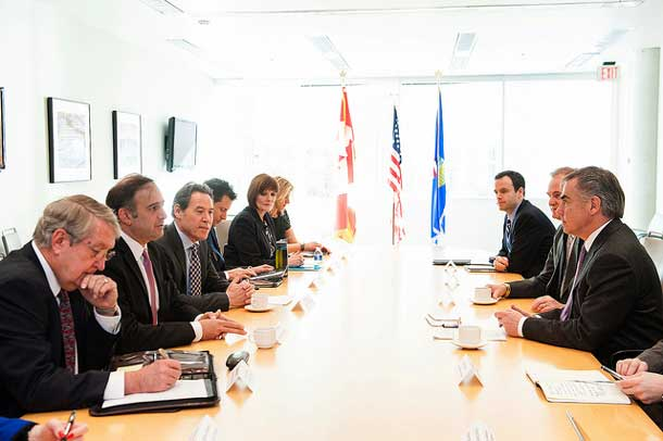 Premier Prentice meets with U.S. Department of Energy and Shell Canada officials in Washington