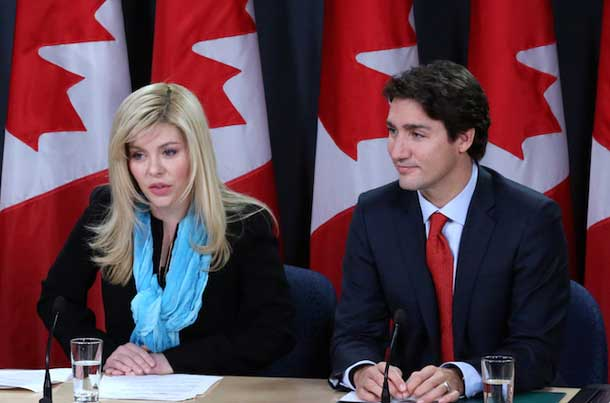 Eve Adams and Liberal Leader Justin Trudeau