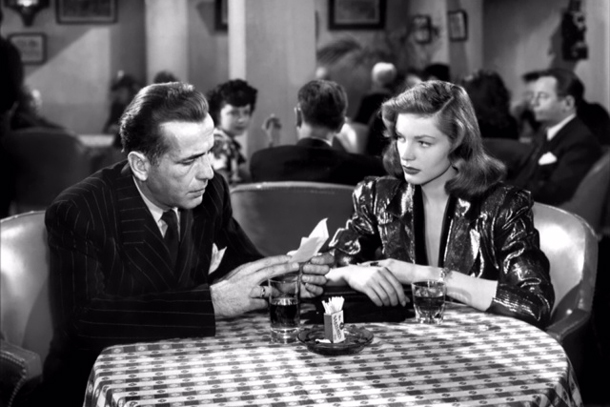 Photo of Bogie & Becall...in the film Casablanca. A scene framed  in a Gallery at The Colony Hotel in Palm Beach, Florida