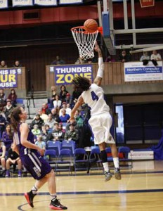 Jylisa Williams led the way with 42 points as the Lady Thunderwolves steamed on in basketball action