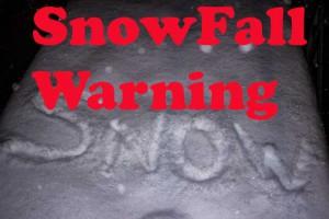 Snowfall Warning in Effect