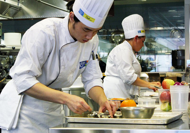 George Brown College Chef School students compete in Sol Cuisine's SOLocal Organic Tofu Challenge.